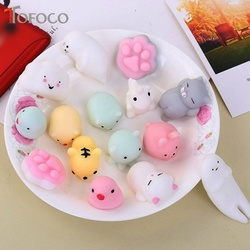 TOFOCO Kawaii Squishy Lento Subindo Panda/Cat/Brinquedos Squish Antistress Squishies Espremer Gadgets Engraçado Brinquedo Para Crianças