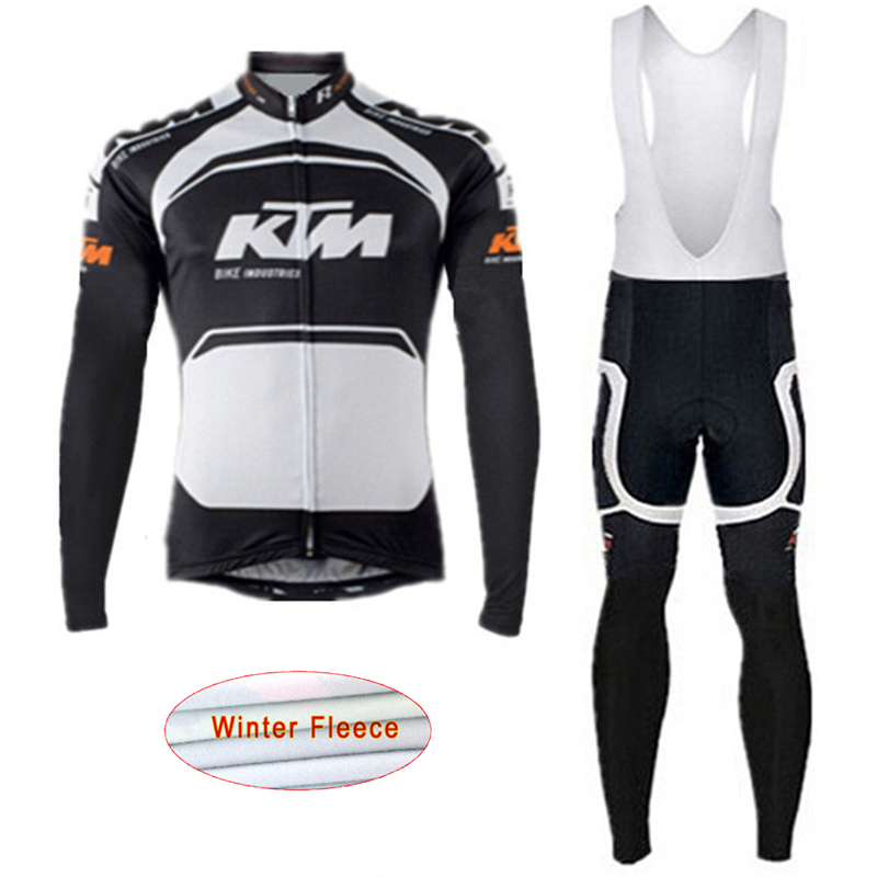 2018 KTM Winter Men Cycling Jersey Thermal Fleece Bicycle Clothing Set MTB Bike jacket Maillot ropa ciclismo invierno hombre G29 x tiger winter long cycling jersey set racing bike thermal fleece ropa roupa de ciclismo invierno bicycle clothing cycling set