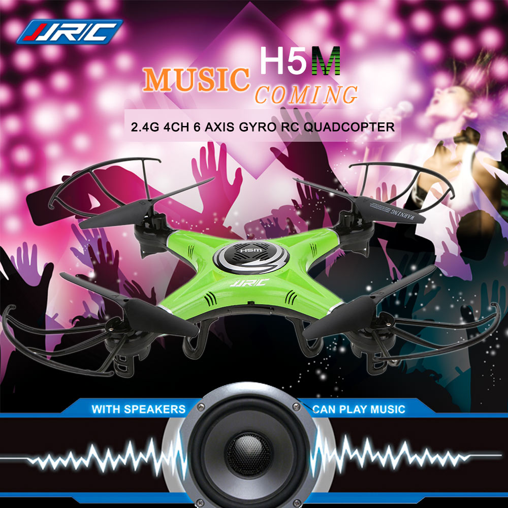 ФОТО Original JJRC H5M Rc Drone 2.4G 4CH 6 Axis Gyro RC Quadcopter Music Play Drone with Speaker CF Mode One Key Return