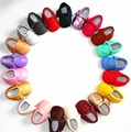 2016 Новый 29 цвета бахромой Лук PU кожаные Детские Мокасины обувь Мальчики Малышей Мягкой Подошвой Детские Детская одежда Обувь 0-2года