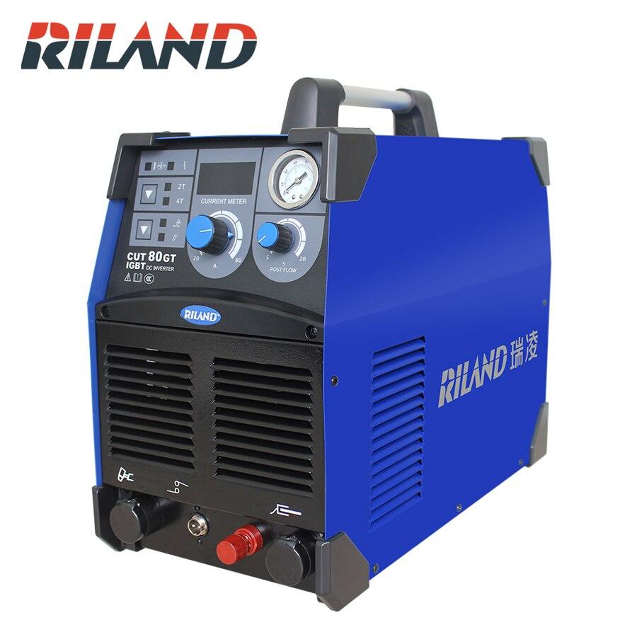 RILAND 380 V triphasé CUT80GT IGBT DC onduleur Plasma coupeur Air Plasma Machine de découpe Plasma coupeur soudeur