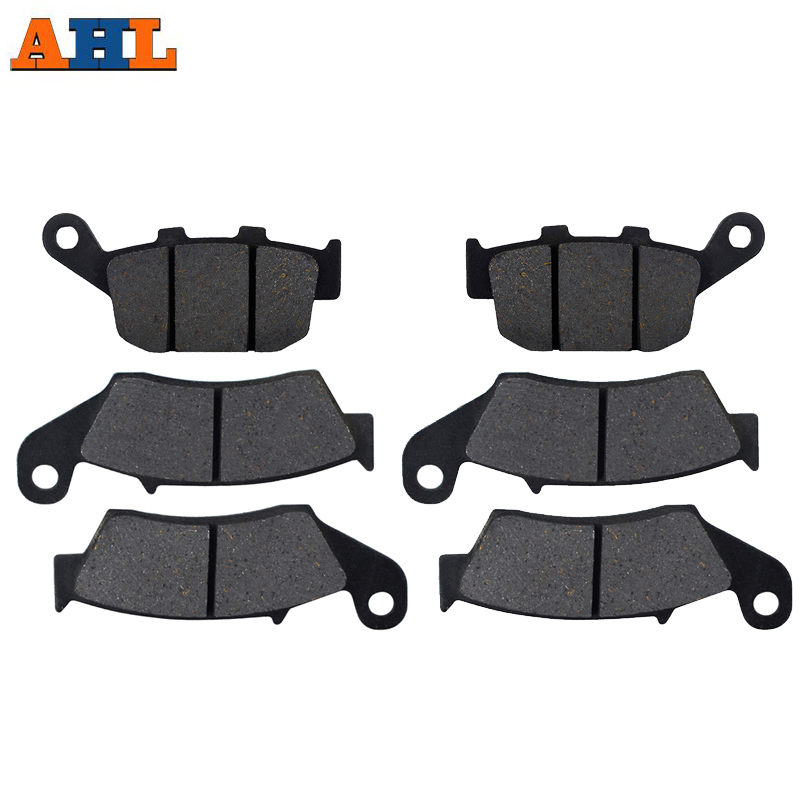 Motorcycle Front and Rear Brake Pads For <font><b>HONDA</b></font> XL700V <font><b>Transalp</b></font> Non ABS 2008-2014 XL600 97-99 XL650 00-07 XRV750 94-03 image