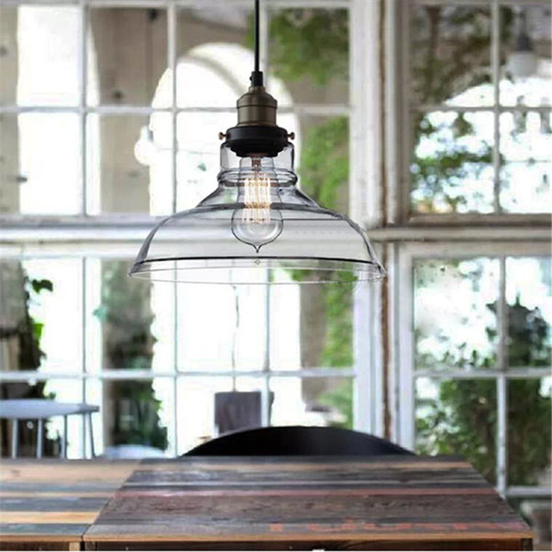 best promotion vintage industrial 28cm ceiling glass lamp shade