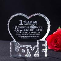 H&D Free Etched Engraving Crystal Trophy Award Customization Glass Paperweight Souvenir Home Wedding Gifts Decoration