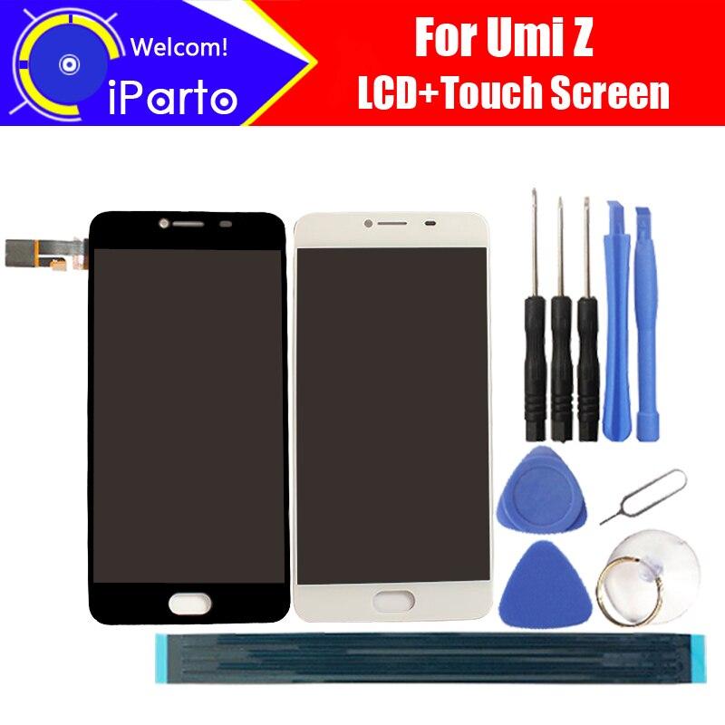 5.5 pouce UMI Z écran LCD + Écran Tactile 100% Original Testé Remplacement de Panneau de Verre de Convertisseur Analogique-Numérique Pour UMIDIGI Z 1920x1080 + Outils