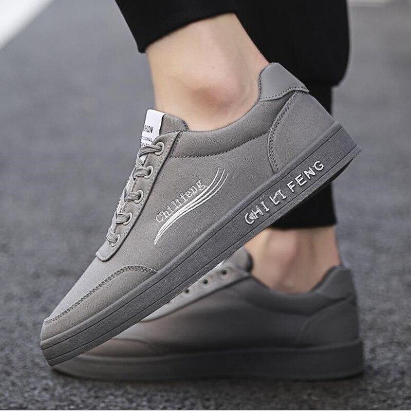 04587afae5b Negro Los Estudiante Y Deportivos Lona Blancos Zapatos gris Casual De Moda  Primavera Hombres Otoño 2019 Respirables 5xf46nHqw