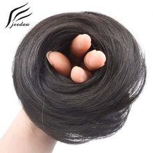 Jeedou coque de cabelo sintético 30g, cabelo sintético, coque lateral alto, tendência para cabelos médios cabelo