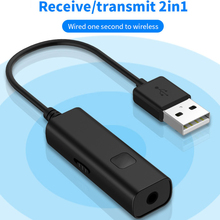 2 in 1 Bluetooth Transmitter Receiver Mini 3.5mm AUX Stereo Wireless Bluetooth Adapter For Car Music Bluetooth Transmitter TV