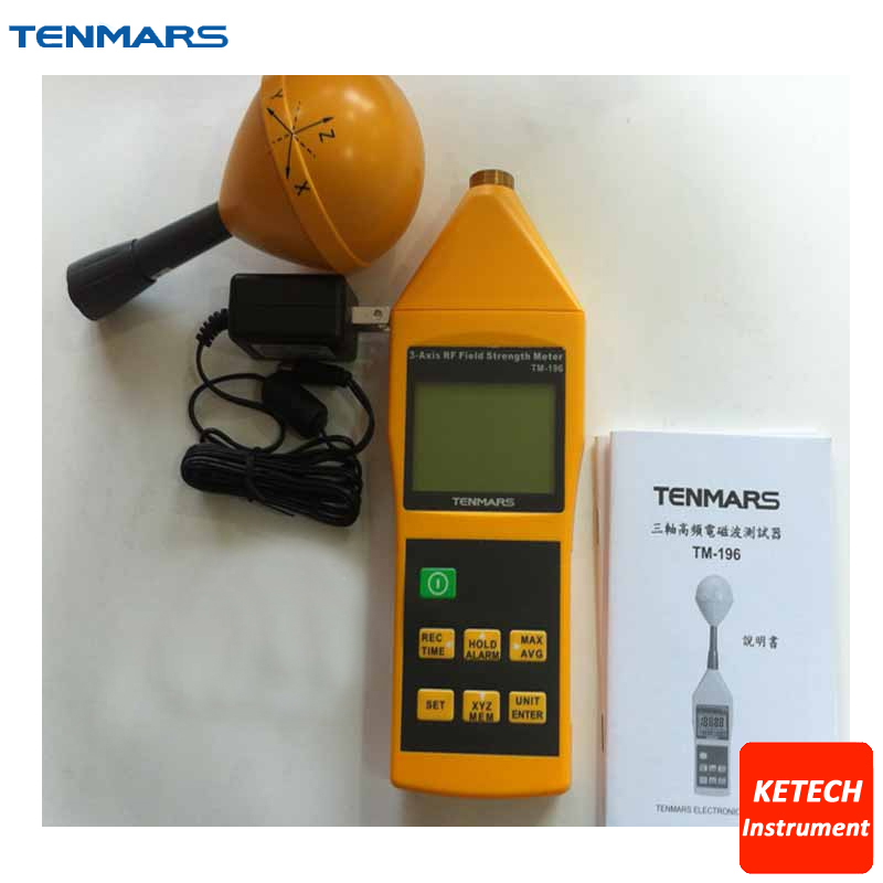TM196 Frequency 10MHz~8GHz 3 Axis Electrosmog RF Field Microwave EMF Meter Tester TENMARS цена