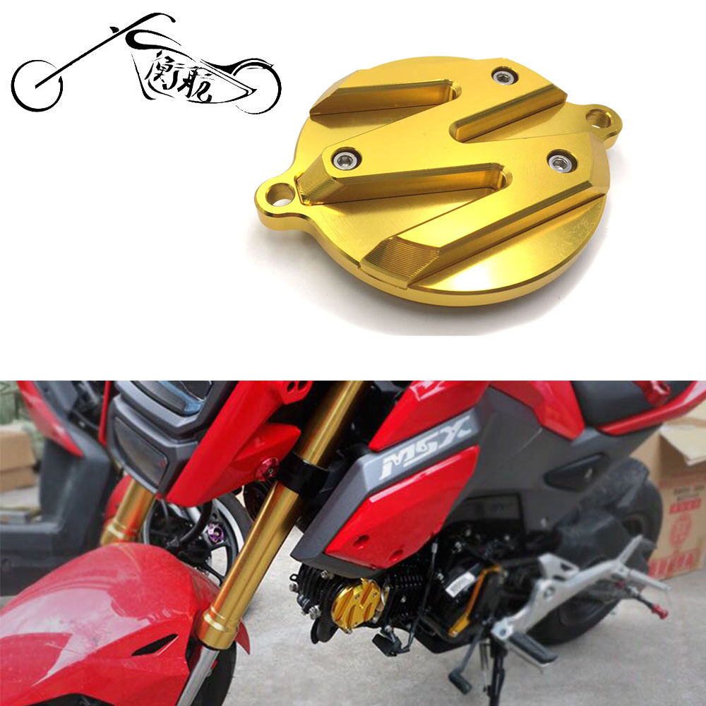 CNC Aluminum Motorcycle Modified Accessory Parts Engine Decorative Cover Round Black Red Yellow for HONDA MSX125 MSX SF125