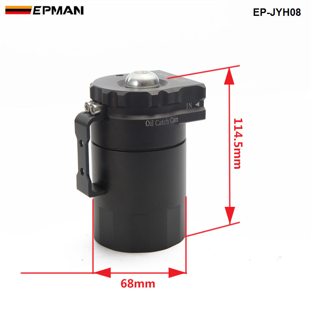 Image 4 - Universal Aluminum Oil Catch Tank Can Reservoir Tank + Breather Filter Color:Black Red Blue Gold Green Silver Purple EP JYH08-in Fuel Supply & Treatment from Automobiles & Motorcycles