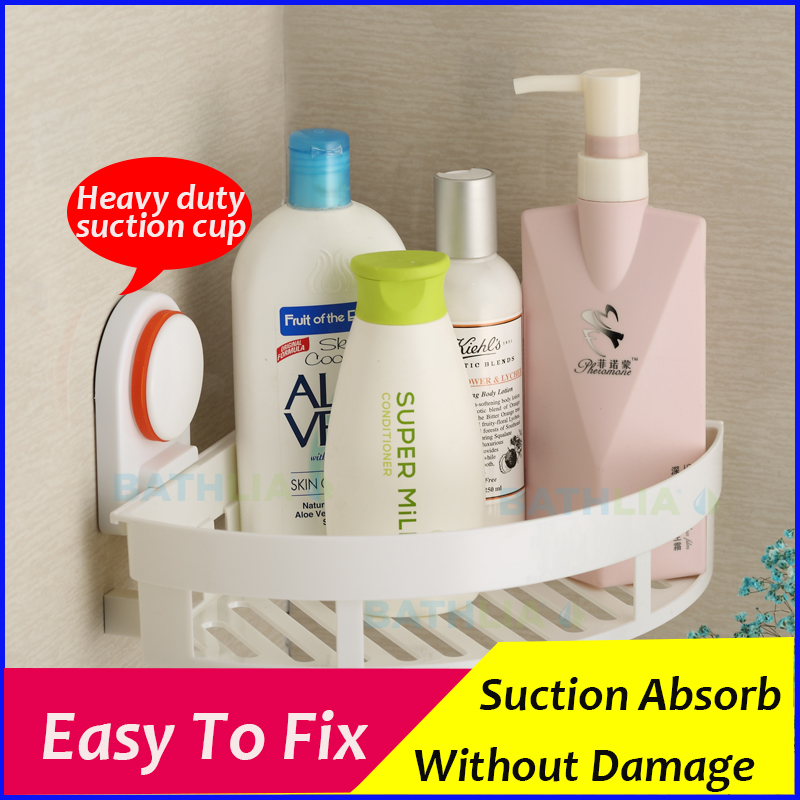 shower caddy rack bathroom suction cup shower holder shampoo holder showers made of eco friendly abs material easy to fix