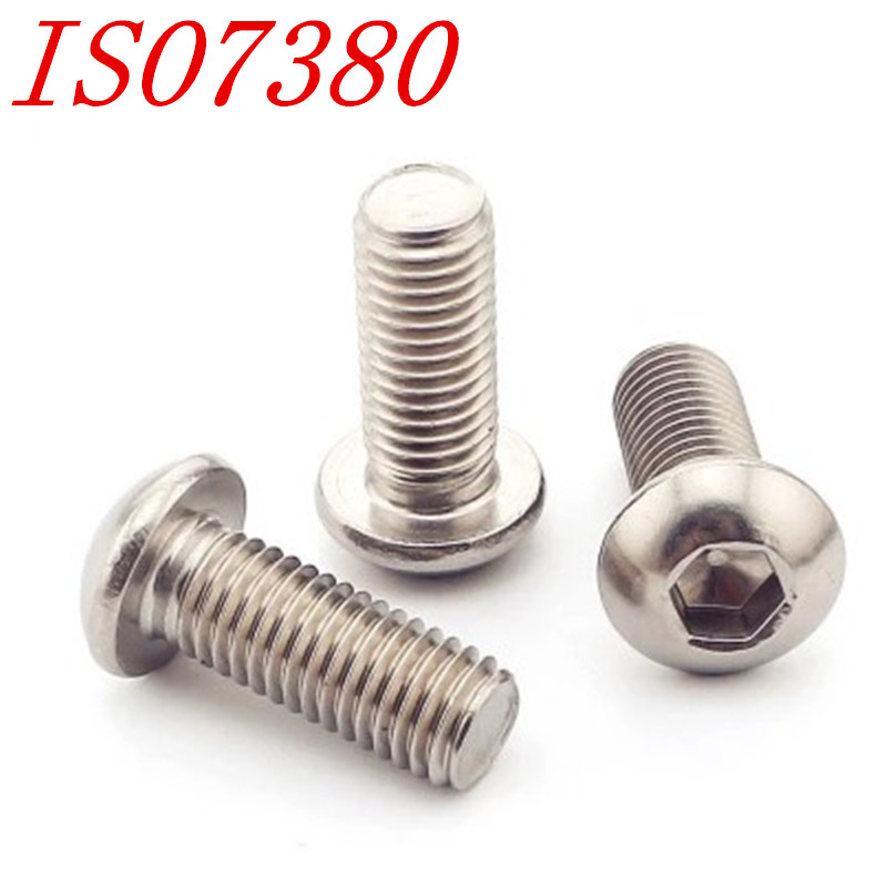 50PCS/LOT ISO7380 M2 M2.5 M3 M4 304 Stainless Steel A2 Round Head Screws Mushroom Hexagon Socket Button Head Screw robin hood 4d xxray master mighty jaxx jason freeny anatomy cartoon ornament