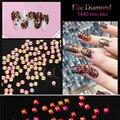 Candy Lover Newest 3D Fire Nail Art Diamond DIY Rhinestones Crystal Flat Back Non Hot fix Colorful Nail Art Tools 1440pcs/pack