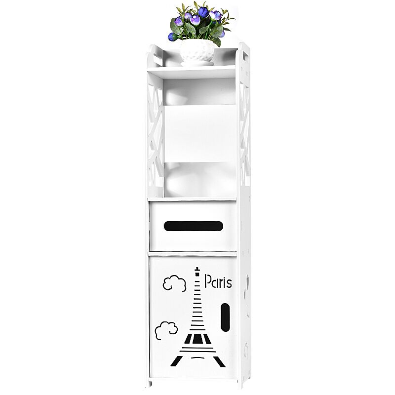 Floor Mounted Bathroom Storage Cabinet Bathroom Vanity Bathroom Side Cabinet Towel Box Toilet Shelf Racks Bathroom Supplies