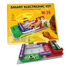 New W-39 Circuits Electronics Block Discovery Kit Bricks Learning Educational Science Toy For Kids Children kids