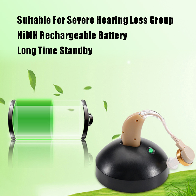 ZhongDe Rechargeable BTE Hearing Aid for Elderly Hearing Loss Sound Amplifier Ear Care Tools Adjustable Hearing Aids Deaf usb rechargeable hearing aid earphone deaf aids my 33 microphone amplifier volume adjustable for elderly