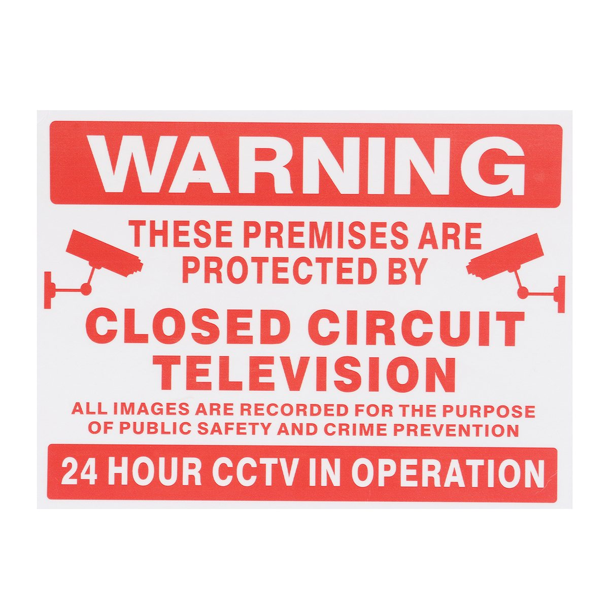 Safurance Premises Are Projected By Closed Circuit Television CCTV Signs Stickers Decal Home Security Warning signs