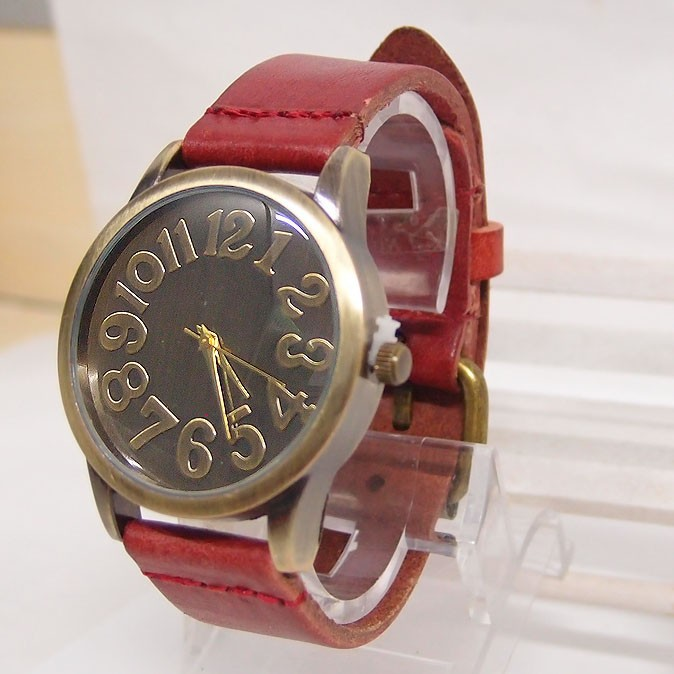 Hot Sales Vintage Äkta Cow Leather Watch Män Kvinnor Punk Military - Herrklockor - Foto 4