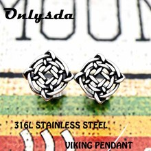 ФОТО viking norse studs earrings viking jewelry vegvisir viking glass cabochon amulet jewelry for man lover gift drop shipping es013