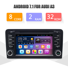 Фотография Octa Core 2G DDR3 RAM 32G ROM Android 6.0 Car Multimedia Player For AUDI A3 Car DVD Navigation GPS WIFI TDA7850 Radio LC812P8QH