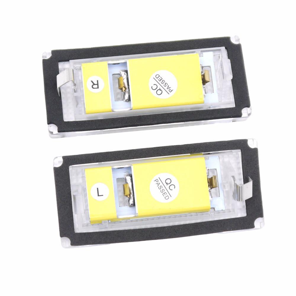 BEESCLOVER 2pcs 12V 18LEDs License Number Plate Lamps Light Signal lights for BMW E46 4D (98-05) 6500K Energy Saving