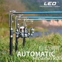 Automático girando vara de pesca mar lago fibra de vidro vara de pesca pólo de peixe 2.1 m  2.4 m  2.7 m para a pesca operação sensível
