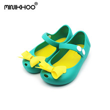 Mini Melissa Bow Girls Sandals Children Shoes Sandals Princess Jelly Shoes Melissa Kids Sandals Baby Shoes Girls Shoes 7Color(China)