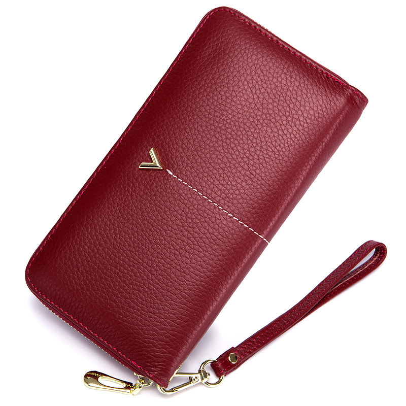 цены 2018 Luxury Brand Long Women Wallet with Interior Moblie Female Large Purse Woman Genuine Leather Card Holder Ladies Coin Red
