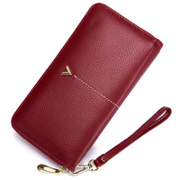2018 Luxury Brand Long Women Wallet With Interior Moblie Female Large Purse Woman Genuine Leather Card