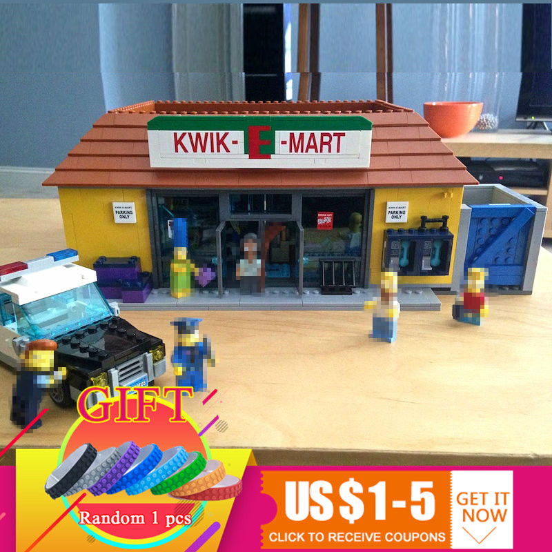 16004 2232Pcs The Simpsons Kwik-E-Mart set Compatible with 71016 Model Building Blocks toys Gift lepin