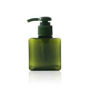 Image 4 - 1 adet kare şişe 150ml losyon şişesi büyük kapasiteli presleme duş jeli şampuan şişesi kozmetik dağıtım şişe BQ024