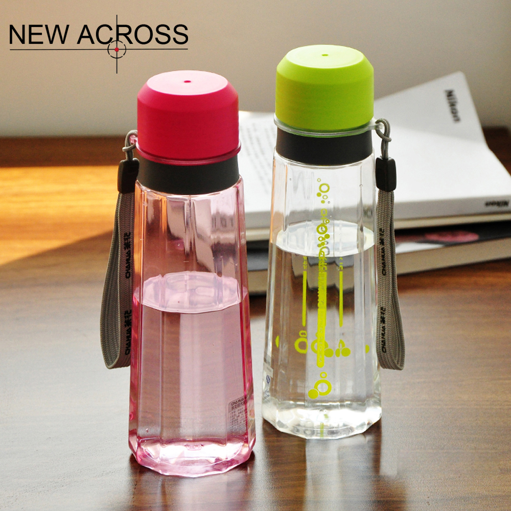JUH 1Pc Water Bottle Portable Large Capacity Plastic Leak Proof Student Travel Bottle Cute Kettle Red/Green/Pink Optional