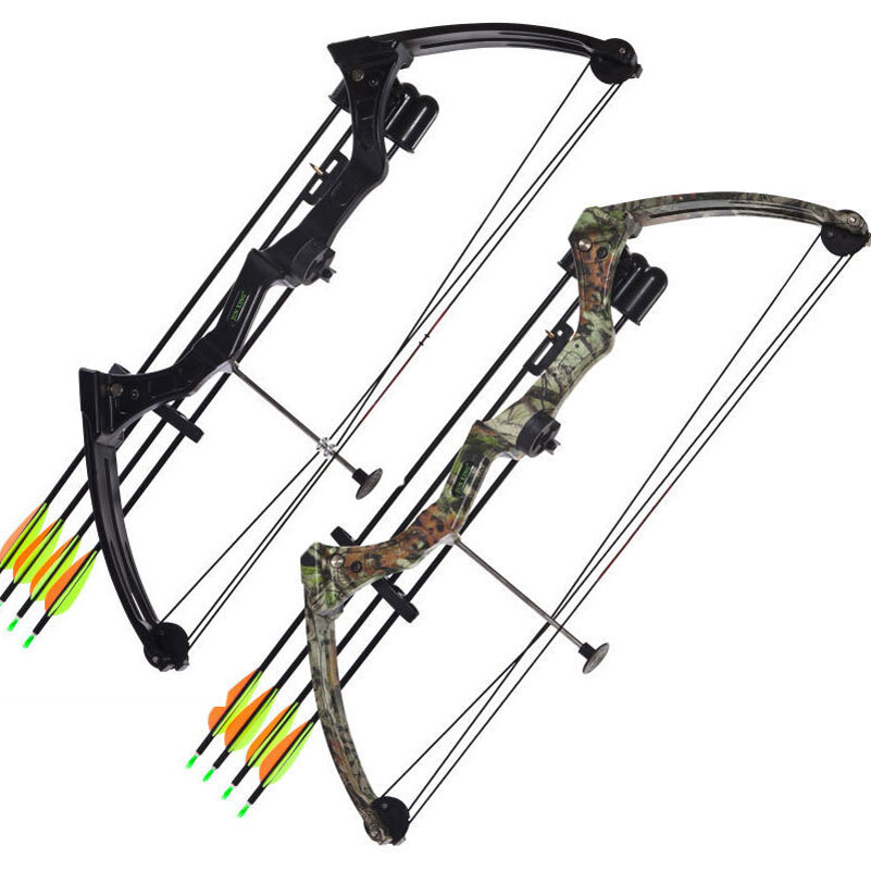 20 Pounds M110 Compound Bow wih Black/Camo Color High-strength Aluminum Handle and Glass Fiber Bow Limbs for Children Games new lp2k series contactor lp2k06015 lp2k06015md lp2 k06015md 220v dc