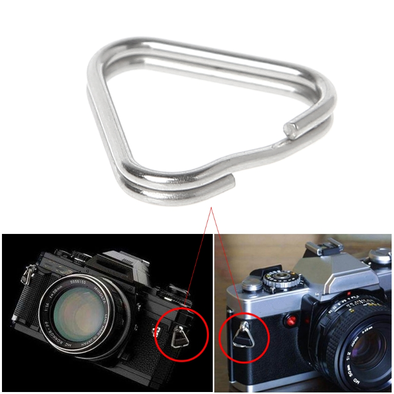 10pcs/set Metal Triangle Rings Split Digital Camera Strap Hook Replacement Parts