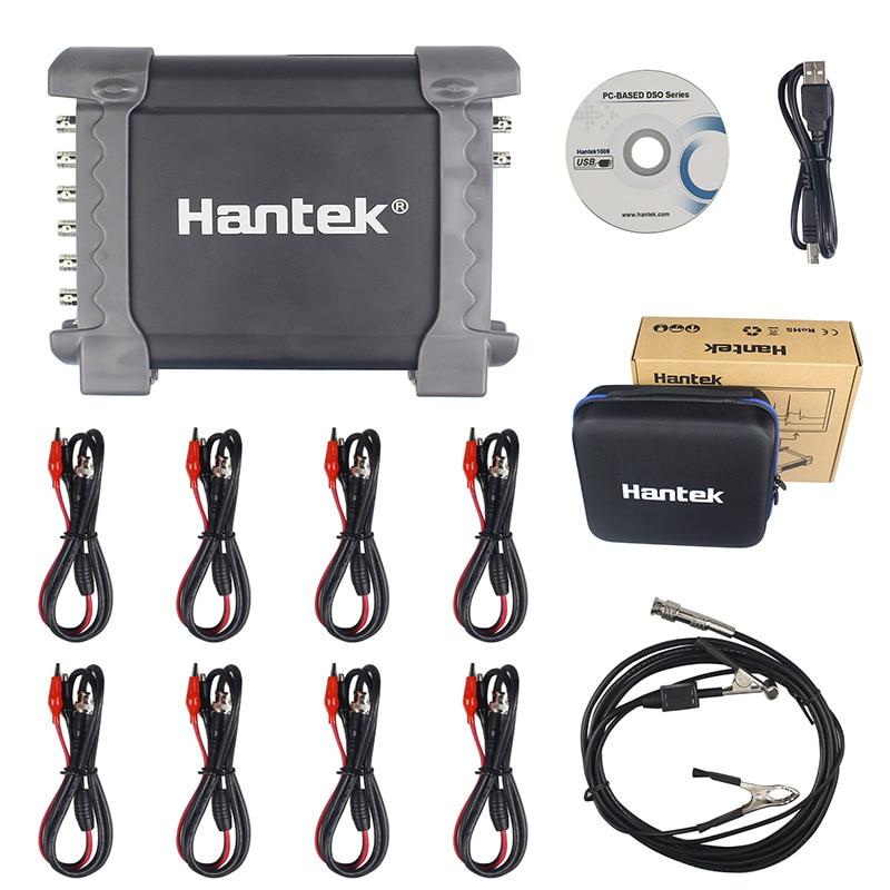 Hantek 1008C 8 Channels Programmable Generator Automotive Oscilloscope Digital Multimeter PC Storage Oscilloscopio USB portable