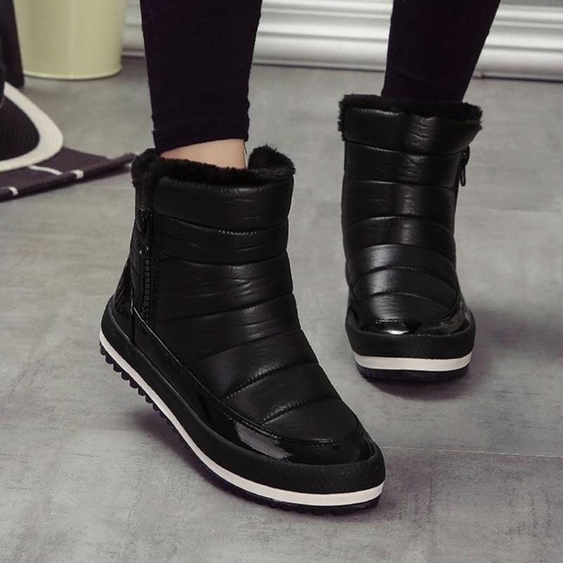 winter boots women 2018 Brand Winter Women's Shoes Snow Boots Women Zipper Thick Boots Warm Shoes Snow Shoes zapatos de mujer 2018 women snow white boots woman winter boots women platform snow boots women s shoes brand shoes jsh m025