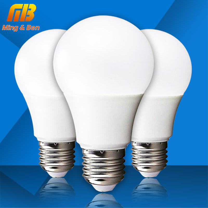 [MingBen] LED Bulb E27 3W 5W 7W 9W 12W 15W AC220V High Brightness Home Lighting LED Lamp Cold White Warm White SMD2835 LED Light 5pcs e27 led bulb 2w 4w 6w vintage cold white warm white edison lamp g45 led filament decorative bulb ac 220v 240v