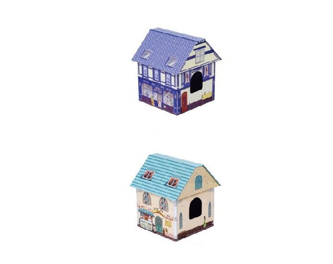 12.6*12.6*16cm New Arrival house style tissue box tin box