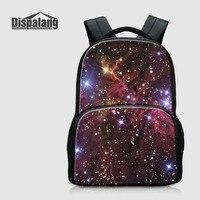 Dispalang Creative Stars Print Kids Schoolbag Felt Laptop Backpack For Men Women School Bag For Children