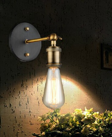 Художественное освещение Промышленное E27 Эдисона настенный светильник винтажный черный железная готовая клетка освещение фитинг для украшения дома - Цвет корпуса: Синий