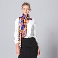 Роскошный топ Класс 110 см * 110 см 100% шелковые шарфы оптовой Шелковый шарф печати атласный платок обертывание Шелковый подарок для девочки
