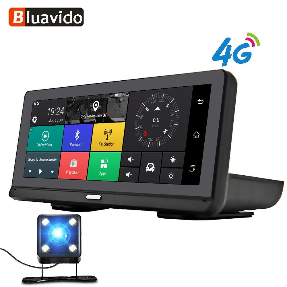Bluavido 8 Android 4G Car DVR camera GPS Navigation ADAS FHD 1080P car video recorder Night Vision WiFi Remote monitor Dash cam