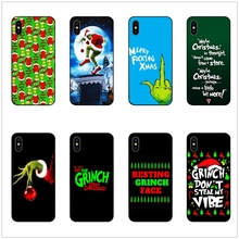 Christmas Grinch Xmas funny phone case black soft cover for Samsung s8 s9plus S6 S7Edge for iPhone 6 6s 7 8plus 5 X XS XR XSMax