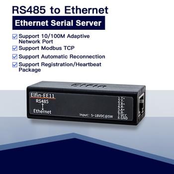 Puerto Serial RS485 a dispositivo Ethernet módulo de servidor compatible con Elfin-EE11 protocolo TCP/IP Telnet Modbus TCP