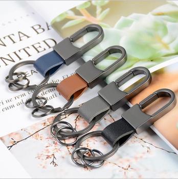 Llave de coche bolsa de caso titular de la cartera de la cadena cartera clave anillo colector ama de llaves EDC bolsillo clave organizador llavero de cuero