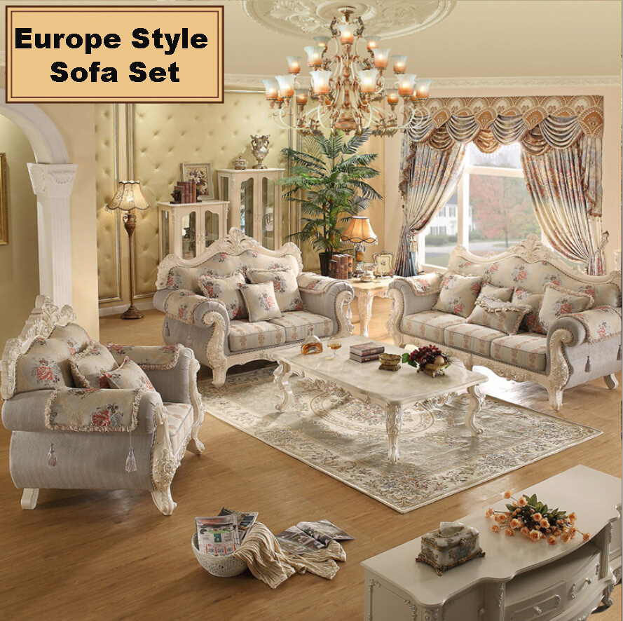 Webetop European Living Room Sofa Combination Solid Wood