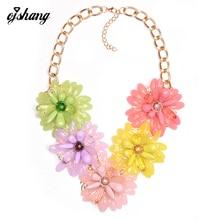 Statement Fashion Women 2016 Necklaces Pendants Bijoux Collier Femme Neck Collar Choker Big Costume Jewelry Flower Chocker