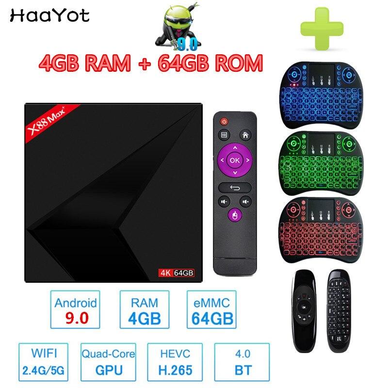 HAAYOT Android 9 0 X88 MAX Smart TV Box 4G 64G RK3328 Quad Core 4K BT4