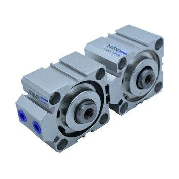 Cilindro neumático Tipo SDA de 50mm de diámetro 5/10/15/20/25/30/35/40/45/50/60/70/75/80/90/100mm de carrera cilindro de aire de aleación de aluminio